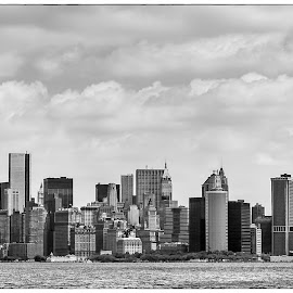 Manhattan from the Circle Line Ferry by Graham Peel - City,  Street & Park  Skylines ( skyline, manhattan, new york, usa, city )