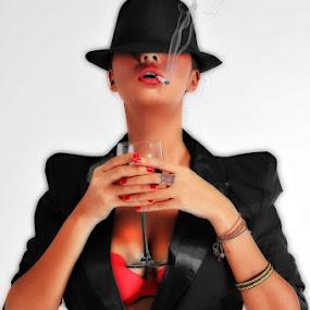 smokey drink by Rendy Yuninta - People Fashion ( fashion, people, riri mickey )