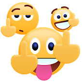 Middle Finger Emoji Sticker APK for Bluestacks