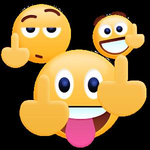 Middle Finger Emoji Sticker For PC