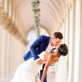 weding kiss by Lucas Strawhorn - Wedding Bride & Groom ( kiss, dip, wedding, bride, groom )