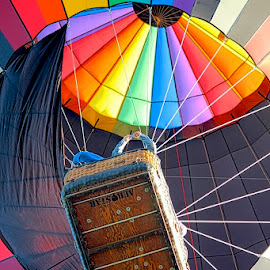 Up Up and Away! by Judy Laliberte - Novices Only Sports ( leading lines, bright, colors, balloon fest, balloon, light )
