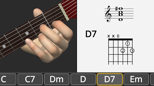 Basic Guitar Chords 3D screenshot 4