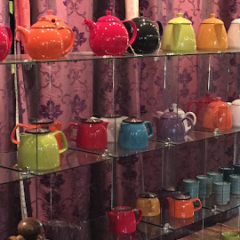colorful tea by Wendy Cooley - Artistic Objects Business Objects ( teapot, color )