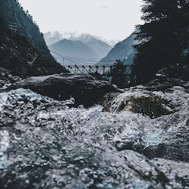 The reign of nature. by Siddhant Soni - Nature Up Close Water ( water, mobilography, mountains, nature, waterscape, india, valley, landscape, himalayas, river )