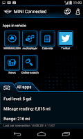 Screenshot of MINI Connected