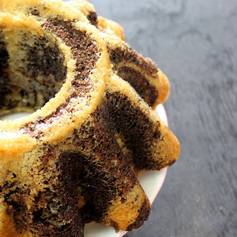 Eggless Vanilla Chocolate Marble Bundt Cake