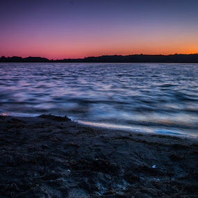 Sunset on Kent Lake by Chris Mowers - Landscapes Waterscapes ( water, sunset, kensington, evening, kent lake,  )