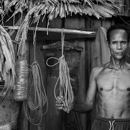 OeFollen'sVillager by Ronny W Tanjung - People Portraits of Men ( rote, bw, portraits of men )