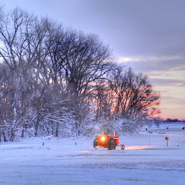 Clearing Out After the Storm by Erin Theisen - Transportation Other ( kayla, 2016, international, blizzard, tractor, 656 )