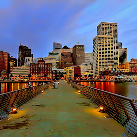 Daybreak at Pier 15 by Lee Molof - Buildings & Architecture Office Buildings & Hotels