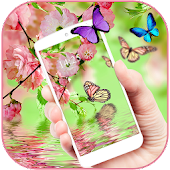 Butterfly pink aroma theme APK for Bluestacks