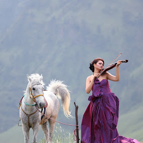 Music for Mother Nature by Pudjiyanto Oentoro - People Fashion ( canon, model, girl, beautiful, animal )
