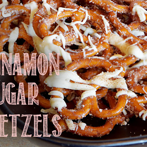 Cinnamon Sugar Pretzels with White Chocolate