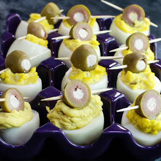 Dirty Martini Eggs
