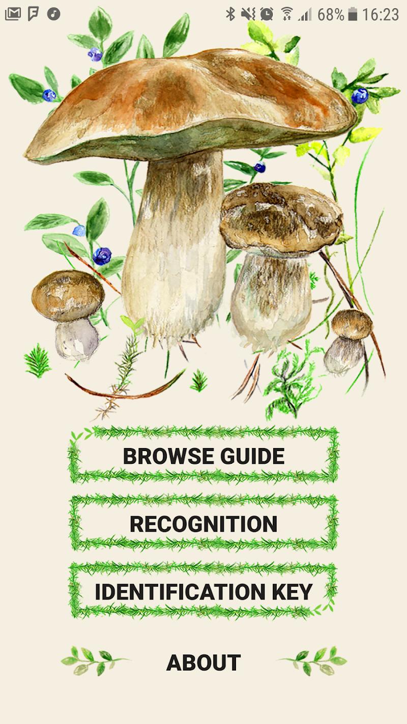 Mushrooms app Screenshot 1