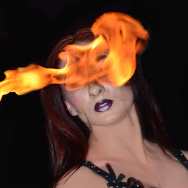 by Howard Wilson - People Musicians & Entertainers ( show girl, girl, show, entertainment, fire )
