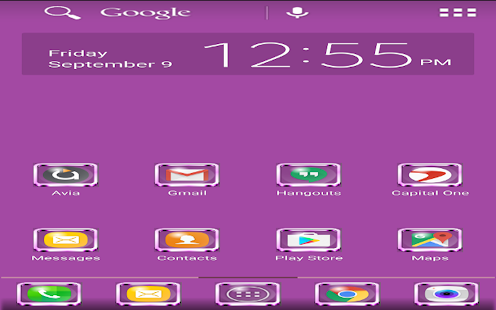 Purple ADW Theme - screenshot