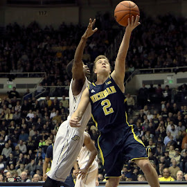 Layup by Patrick Barron - Sports & Fitness Basketball ( basketball, michigan, layup, spike albrecht, purdue )