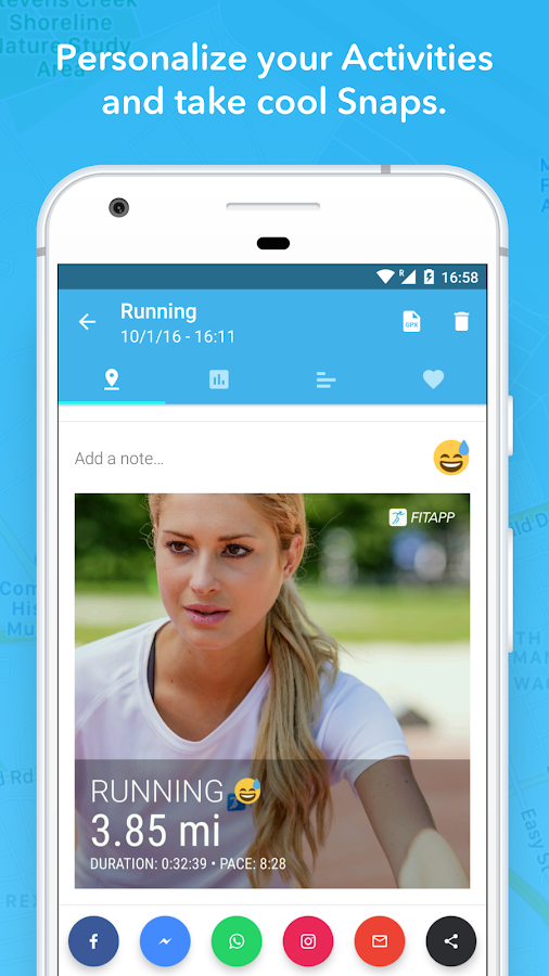 FITAPP Running Walking Fitness Screenshot 2