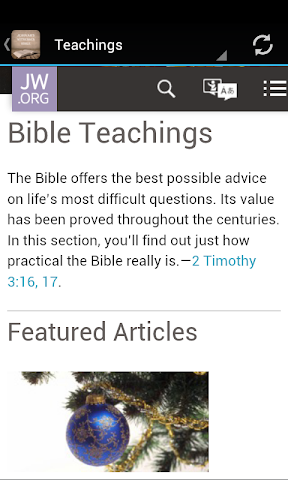android Jehovah's Witnesses Bible Screenshot 1