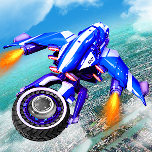 Flying US Police Bike Transform Robot Bike Games For PC / Windows 7/8/10 / Mac – Free Download