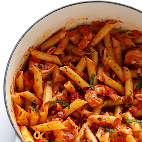 Shrimp Pasta with Creamy Tomato Basil Sauce
