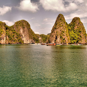 Ha Long Bay #5 by Cal Brown - Landscapes Caves & Formations ( waterscape, ha long bay, formations, vietnam, landscape,  )