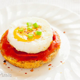 Sunny-Side Up Egg and Pizza Breakfast Muffins