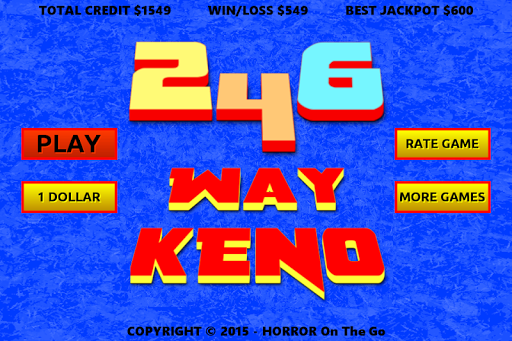 246 Way Keno - screenshot
