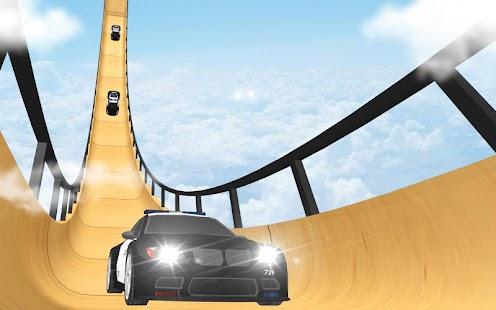 US Police Mega Ramp Car Stunts Racing: Cop Driving