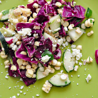 Corn, Cabbage and Cucumber Salad