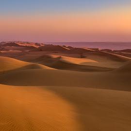 Sand dunes in sunrise by Andreja Novak - Landscapes Deserts ( sand, dunes, desert, landscape,  )