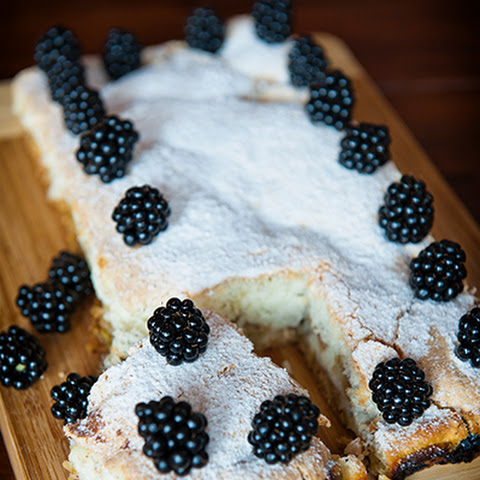 Apple Cake With Blackberries On Top