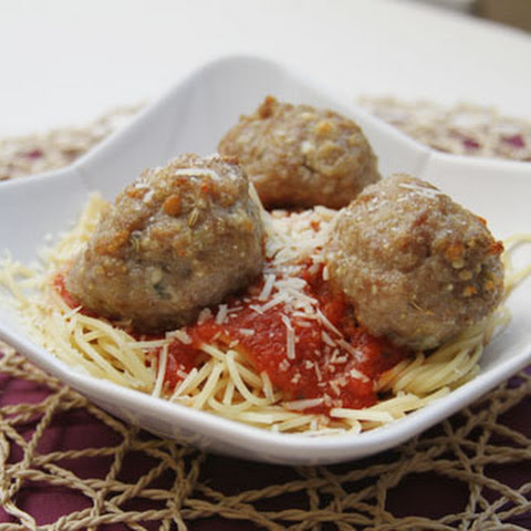 Gorgonzola Stuffed Sausage and Quinoa Meatballs
