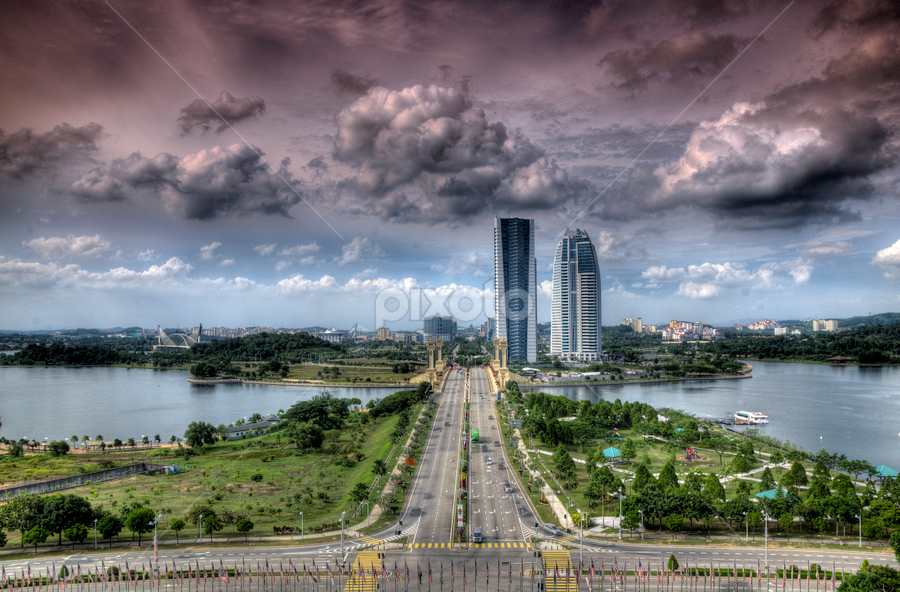 PICC View Down by Zayady Radin - City,  Street & Park  Vistas