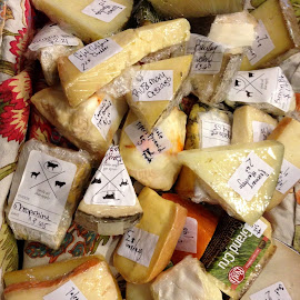 Basket of Cheese by Sue Baxter Fitz - Food & Drink Meats & Cheeses