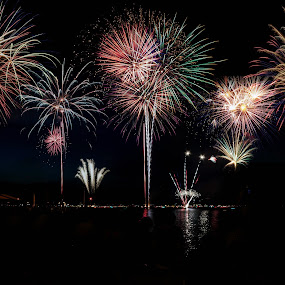 4th of July by Ruth Sano - Public Holidays July 4th ( lake george, 4th of july, fireworks, new york )