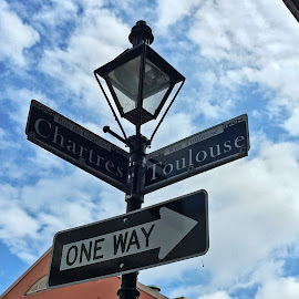 One Way by Carrie Murray-Feely - City,  Street & Park  Neighborhoods