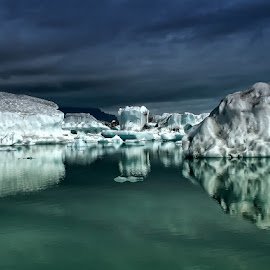 Icebergs II by Þorsteinn H. Ingibergsson - Nature Up Close Water ( iceberg, iceland, nature, ice, structor, landscape )