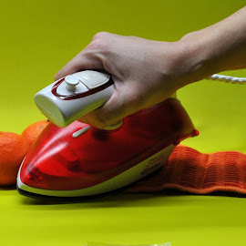 ironing by Viktoria Nikolla - Artistic Objects Clothing & Accessories ( #opticalillussion #iron #heat #melt #fabric )