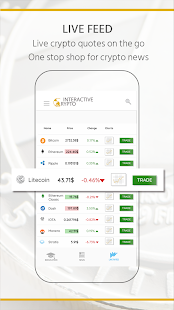 Interactive Crypto-Bitcoin - Cryptocurrency & News screenshot for Android