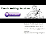 Top Class Thesis Writing Services in Chennai