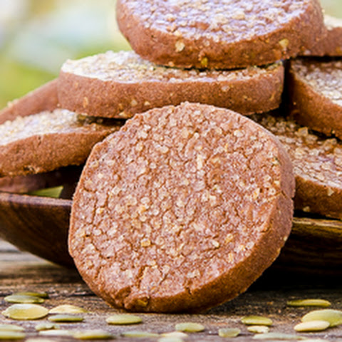 Mexican Chocolate Pepita Shortbread Cookies
