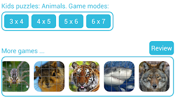 Screenshot of Kids puzzles: Animals