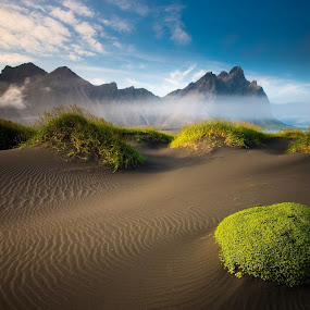 Sand by Brennan Adamus - Landscapes Deserts ( sand, mountain, sky, cloud, landscape )