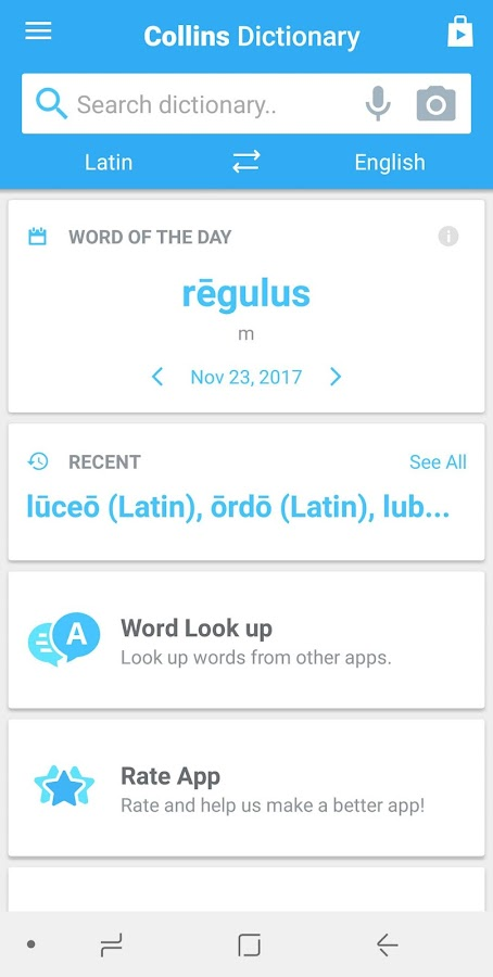 Collins Latin Dictionary Screenshot 6