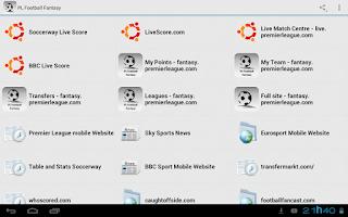 Screenshot of PL Football Fantasy