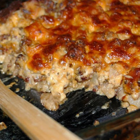 Low Carb Mushroom, Chicken & Sausage Casserole