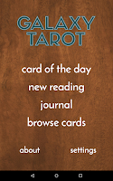 Screenshot of Galaxy Tarot